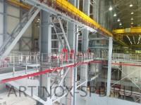 Ограждение площадок из нержавеющей стали (ТЭЦ-14). Фото 2
