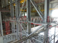 Ограждение площадок из нержавеющей стали (ТЭЦ-14). Фото 3
