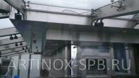 Потолочный вентиляционный короб обшитый нержавеющей шлифованной сталью. Фото 2