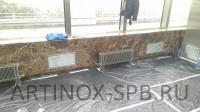 Вентиляционные решётки и батареи отопления из нержавеющей шлифованной стали. Фото 1
